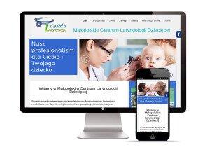 Realizacja strony www dla Małopolskie centrum Laryngologii Dzicięcej